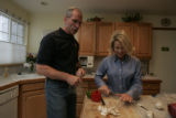 Spotlight food. Gubernatorial candidates Bob Beauprez has a short time at home but when he is home...