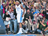 Nuggets rookie forward, Carmelo Anthony, brings the Nuggets closer to their first playoff berth in...