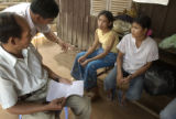 Kampong Thom, Cambodia.  November 12, 2003.  Pastors Sinoeun Chea and Hoeun Lao (need to check)...