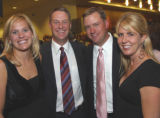 Advocates for Children supporters at the decade celebration of the Red Wagon Ball included, from...