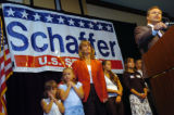 (8/10/2004, Littleton, CO)  Bob Schaffer concedes the primary to his Republican opponent Pete...