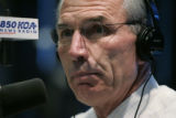 Gubernatorial candidates Bill Ritter and Bob Beauprez debate on the air at KOA with Mike Rosen as...