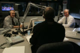 Gubernatorial candidates Bill Ritter and Bob Beauprez debate on the air at KOA with Mike Rosen (c)...