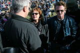Actors/activist Tim Robbins (left)  Susan Sarandon(middle) and Sean Penn showed their support...