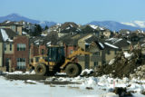 Breaking ground for new roads near the Lone Tree Recreation Center in Lone Tree, Colo. on January...