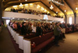 Worshipers take part in a song on Sunday morning January 28, 2007 at Applewood Baptist Church, at...