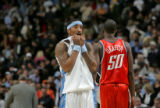 Denver Nuggets guard JR Smith after missing what could have been a game tying 3-pointer against...