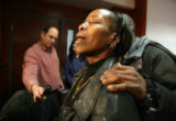 Annetta Vann (cq) reacts to the Sir Marco Owens guilty verdict at the Arapahoe County Courthouse...