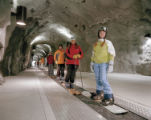 The first of its kind in North America, Snowbird's new nearly 600-foot tunnel houses a conveyor...