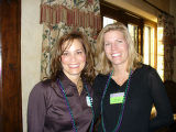 (L to R) Lisa Van Gilder and Amy Reilly, attendees at Membership and Margaritas