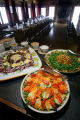 "Various salads set out for guests before a ""family-style"" lunch on Friday February 2,..."