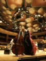 BG0057 Mike Fitzmaurice, CQ, 51, packs his Bass on stage at the Boettcher Concert Hall which has...