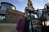 Esther Ebner (cq) with daughter, Isabelle Ebner (cq) finishes up her shopping at the Wild Oats...