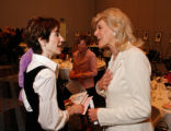 Patti Kauffmann shares a moment with Lynn Sherr. STEVE PETERSON/SPECIAL TO THE NEWS The Choices...