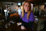(DLM1364) -  Angie Godfrey, owner of Angie's Tavern in Golden, Colo., says business has dropped at...