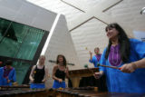 9:41 a.m. October 7, 2006. Members of the musical group, Kutandara, play marimbas, from Zimbabwe, ...