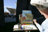 10:50 a.m. October 7, 2006. Amy Evans (cq), of Breckenridge, uses oils for her painting of the new...