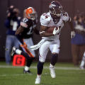 Denver Broncos cornerback Champ Bailey runs for extra yards after making an interception in the...