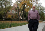 Alan Cass (cq) walks in front Macky Auditorium on CU campus in Boulder Tuesday afternoon October...