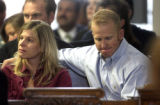 Diane Bishop (cq) and her husband Detective Jack Bishop during the sentencing of Raul Gomez-Garcia...