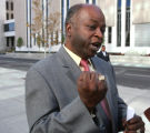 Phillip Mallory (cq) leaves the Federal Courthouse in Denver on Wednesday October 11,2006....