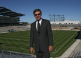 E. Stanley Kroenke, owner and president of Kroenke Sports Enterprises, spoke at a press conference...