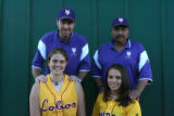 Coaches of the year, back row, Bill Burke, left, and Glen Ramos, both from Holy Family.  Pitcher...