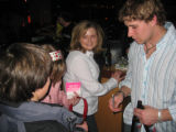 John-Michael Liles signs autographs for a few of his young fans. (DAHLIA JEAN WEINSTEIN/ROCKY...