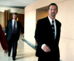 Mark Paschall (cq),right, and his attorney William Rapson (cq), left,  leave Jefferson County...