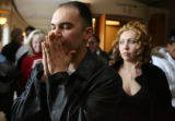Victor Martinez (cq)  , boyfriend of Angel Delgado, reacts outside of Jefferson County Court in...
