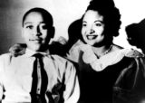 (NYT3) UNDATED -- May 10, 2004 -- MISS-MURDER_B&W -- Mamie Till Mobley and her son, Emmett...
