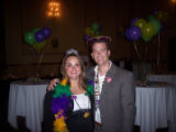 Chairman and crowned king of the Masquerade Brett Shrewsbury with his wife and committee member...