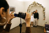Couples wanting to get married on Valentine's Day had to the opportunity to at the Wellington Webb...