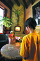 JPM251 - With a fire roaring in the fireplace, Emma Starek, 9, left, and brother Peter Starek, 11,...