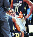 SPECIAL TO THE ROCKY MOUNTAIN NEWS---Colorado head coach Ricardo Patton talks to his players...