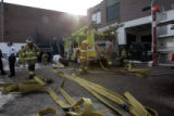 Firefighters  and deputies respond to Evergreen High School Tuesday morning March 6, 2007 after a...