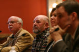 Rick Manyik (cq),  second from left of El Paso County, testifies about losing a land sale of a 315...