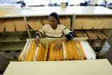 (DLM6409) -  Deputy Public Trustee Rhonda Stewart files through a drawer filled with foreclosures...