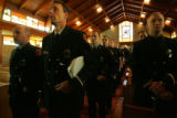 Firefighters from Baltimore and Colorado's Front Range, and Denver law enforcement attend the...
