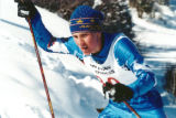 Bryan Fletcher competing in a Nordic cross-country skiing event as a teenager in the Junior...