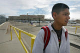 Ezequeil Galvan (cq), a 16 year old junior at North High School, talks about some of the good...