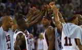 (Athens, Greece  on Thursday, Aug. 19, 2004) -American basketball player Carmelo Anthony with...