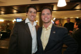 Josh Sims and Nick Carlson  (MICHAEL MARTIN/SPECIAL TO THE NEWS) Choppers Dinner, February 21,...