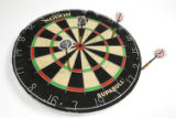 (DENVER, Colo., Aug. 5, 2004)  Pictures of a dartboard for a Wall Street West Story.  Each dart...