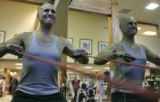Pat O' Donnell (cq) works out at the Snowmass Athletic Club inb Snowmass, CO,  November 1, 2006....