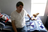 (DENVER, Colo., Aug. 18, 2004)  Richard O'Malley in the second bedroom of his mobile home in the...