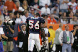 (JPM1596) Denver Broncos Al Wilson walks off the field after the Indianapolis Colts Reggie Wayne's...