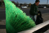 Rick O'Donnell picks up trash at Jefferson County Open Space, 41st and Kipling Sts., Wheatridge,...
