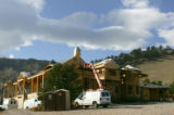 A large house under construction near the foothills in Boulder, Colo., on Thursday, November 2,...