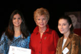The Women's Foundation of Colorado longtime supporter and frmer honoree Dottie Lamm , center,...